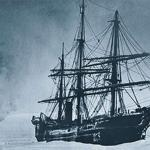 old ship in sea ice