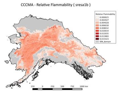 map of flammability in alaska