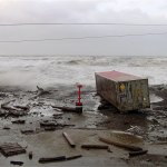 stormy beach at nome