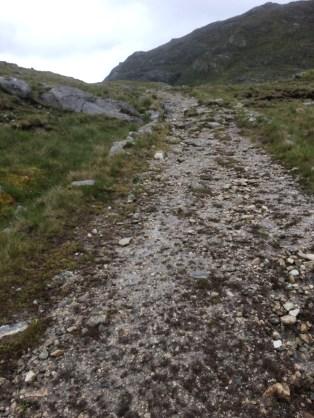 Climbing uphill in Connemara