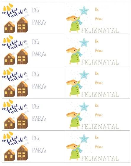 Cartões de Natal com motivos em tons pasteis para fazer o download, imprimir e personalizar seus presentes nesse Natal!