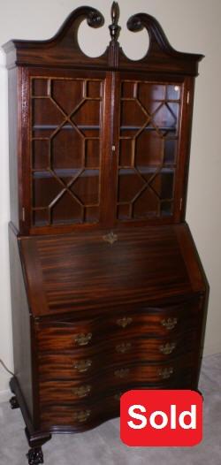Antique Secretary Desk Mahogany SecretaryChippendale