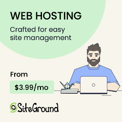 Siteground Hosting service. Crafted for easy site management & optimied for Wordpress.