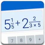 Fraction calculator free easy solve math problems 2.2 APK