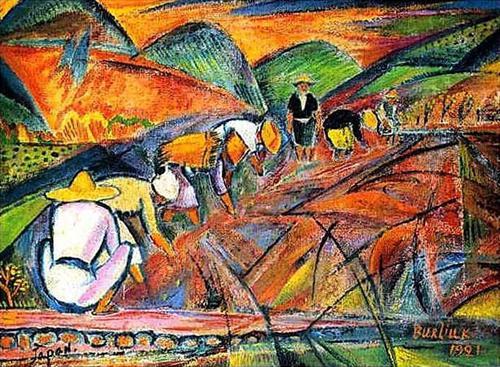 Давид Бурлюк - На рисових полях, 1921