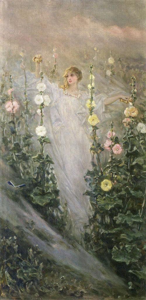 Вільгельм Котарбінський - Дівчина серед мальв (Фея квітів)