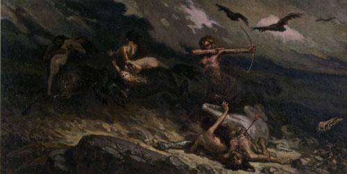 Вільгельм Котарбінський - Бій кентаврів з лапіфами