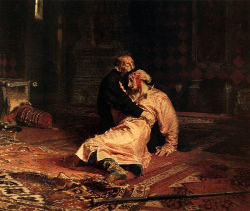 Ілля Рєпін - Иван Грозный и сын его Иван 16 ноября 1581 года, 1885