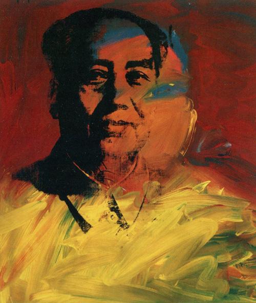 Енді Воргол. Мао. 1972-1973. Шовкографія тушшю, синтетична полімерна фарба, полотно.