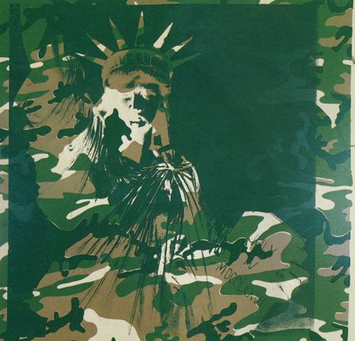 Енді Воргол. Статуя Свободи. 1986. Шовкографія тушшю, синтетична полімерна фарба, полотно.
