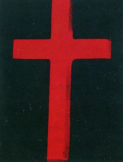 Енді Воргол. Хрест. 1982. Шовкографія тушшю, синтетична полімерна фарба, полотно.