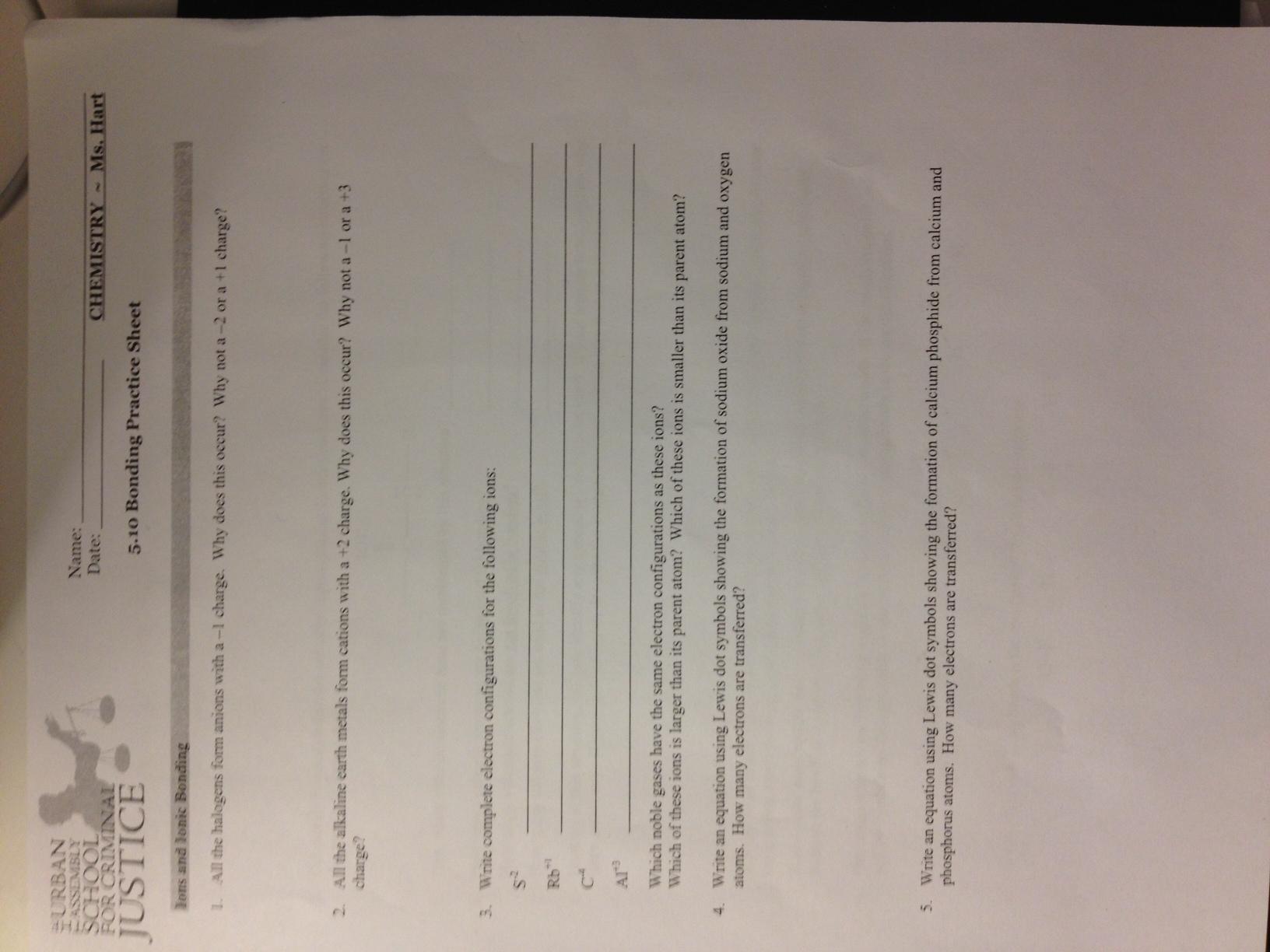 Ms Hart S 10th Grade Chemistry