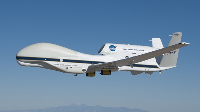 NASA is using a drone to track Hurricane Matthew.
