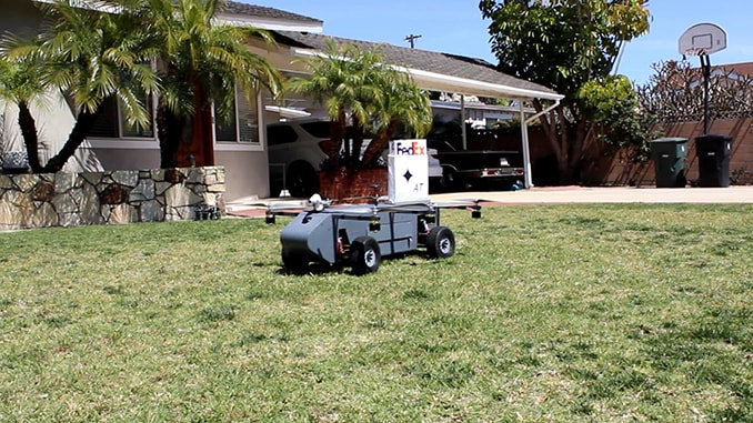 World's Most Mobile Package Delivery Robot