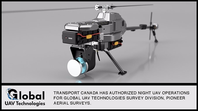 Global UAV's Survey Division Obtains Night Flight Authorization from Transport Canada