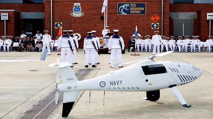 Australian Navy commissions new 822X unmanned aircraft squadron