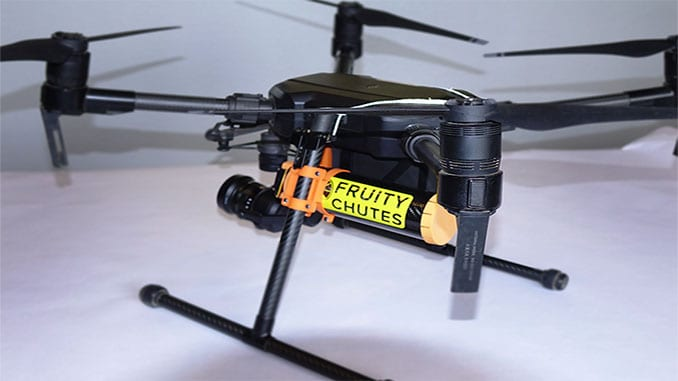 Fruity Chutes Releases Matrice 200/210 Automatic Emergency Drone Parachute