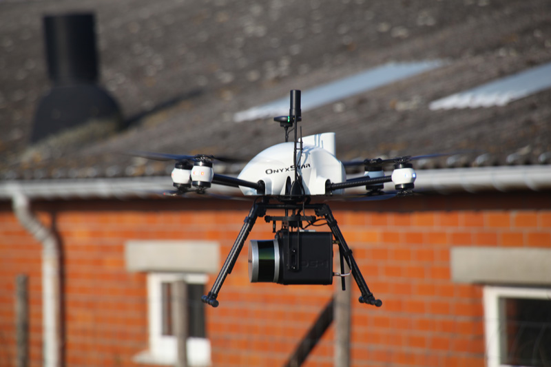 Buildings Laser 3d scanning with uav - LiDAR OnyxScan