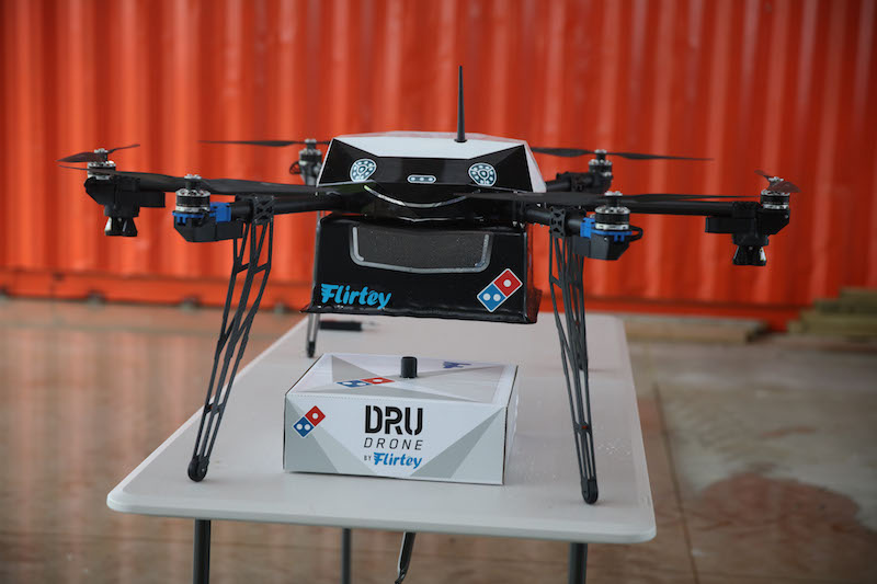 Flirtey drone delivery