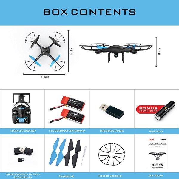 U45 Blue Jay WiFi FPV Drone with HD Camera