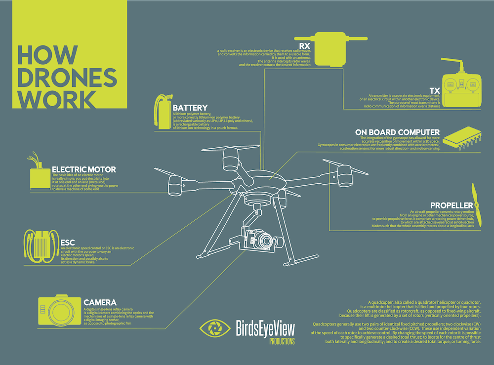 How Drones Work Infographic