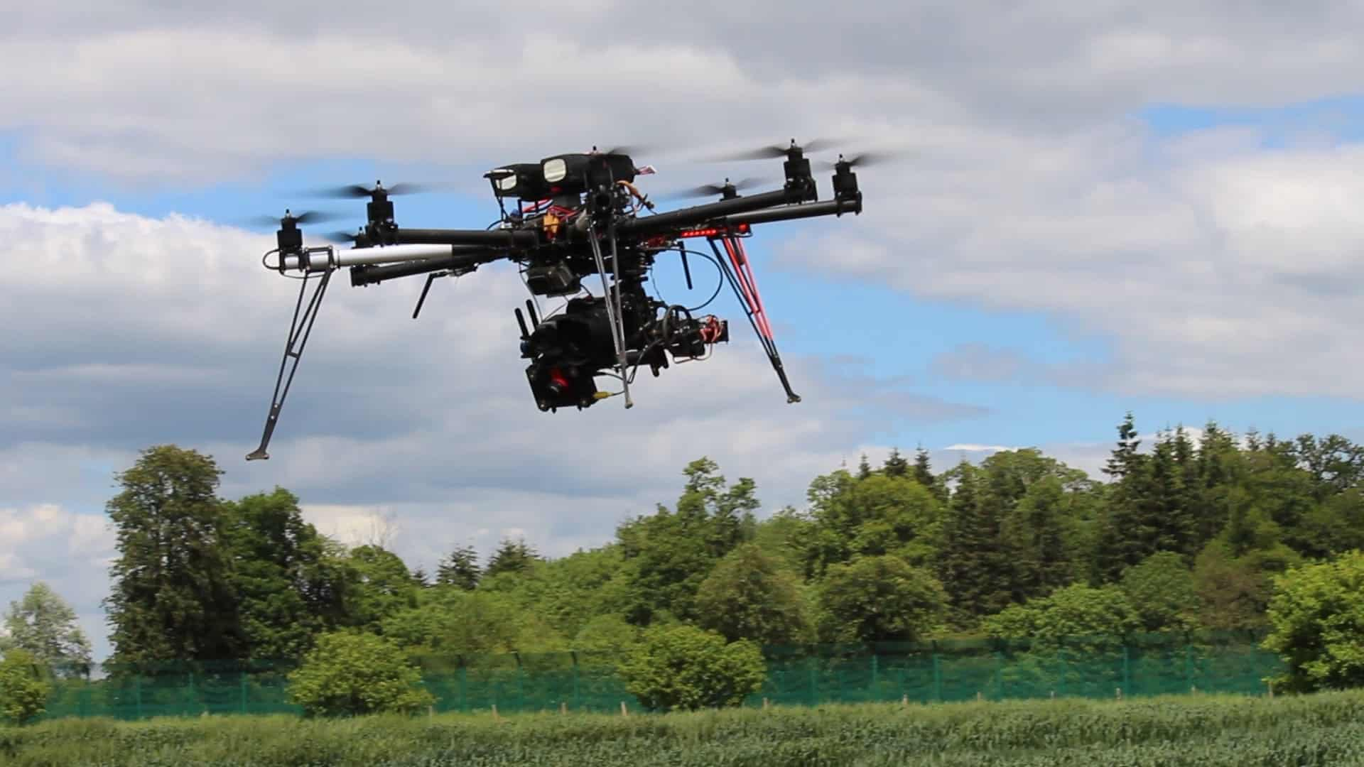 Experimental Octocopter Drone for Agricultural Research