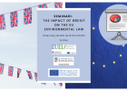 Seminario: The impact of Brexit on the EU environmental law