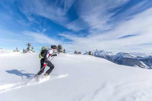 Entrainement En Ski De Randonnée Dans La Poudreuse Du Beaufortain