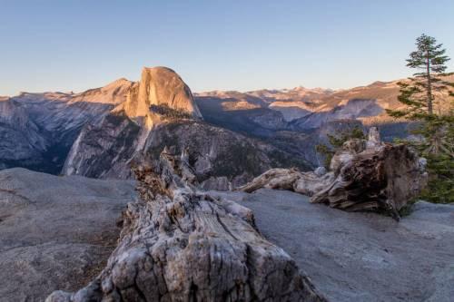 Lever De Soleil Sur Le Half Dome Depuis Glacier Point, Yosemite
