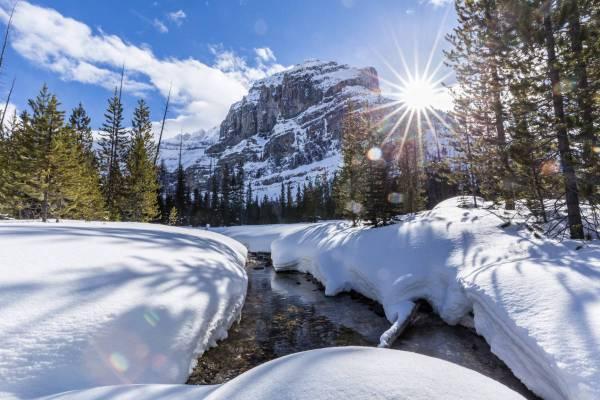 Paysage hivernal du Stanley Headwall