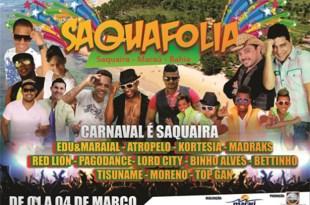 Maraú: Carnaval de Saquaíra começa hoje (01), confira a programação.