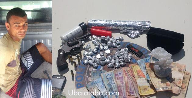Traficante Éder da Ruinha foi preso pela Polícia Militar na tarde desta quarta feira (26)