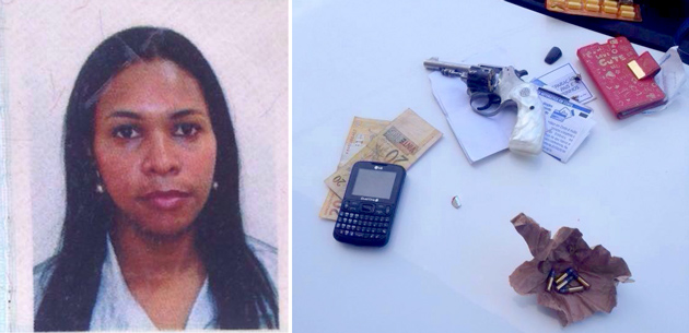 Ubaitaba: Mulher é presa com um revolver calibre 22 na bolsa