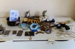 PETO da continuidade a operação e apreende droga, arma e munições no Bairro Novo