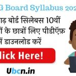 CG Board Syllabus 2021