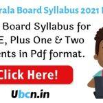 Kerala Board Syllabus