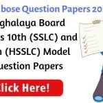 Meghalaya Board Question Paper 2021