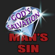 God's great salvation shines forth against the dark background of man's sin