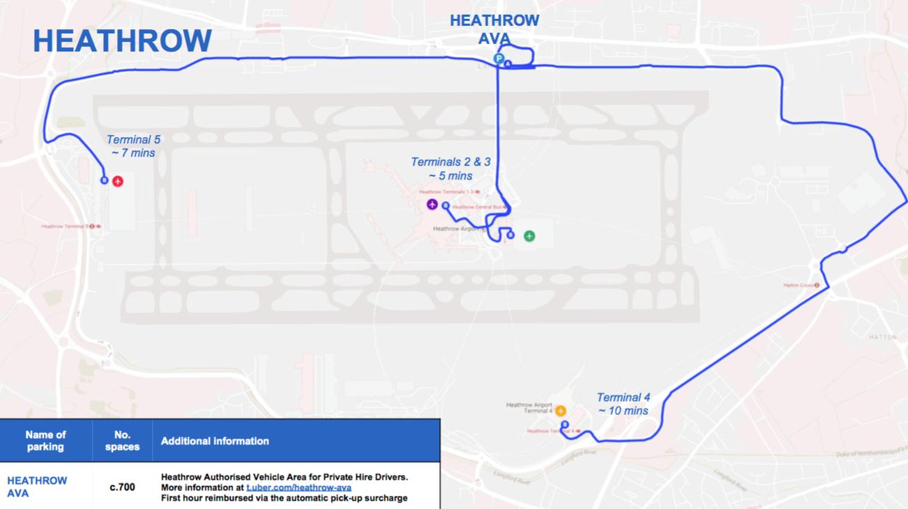 London Heathrow Airport Uber Waiting Area Updated