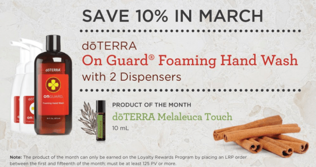 Product Promo doTERRA - March 2017