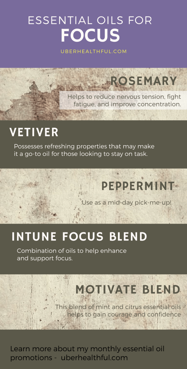 5 oils for focus