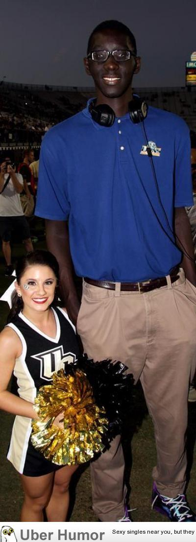 48 UCF Cheerleader With 76 HS Basketball Player Tacko