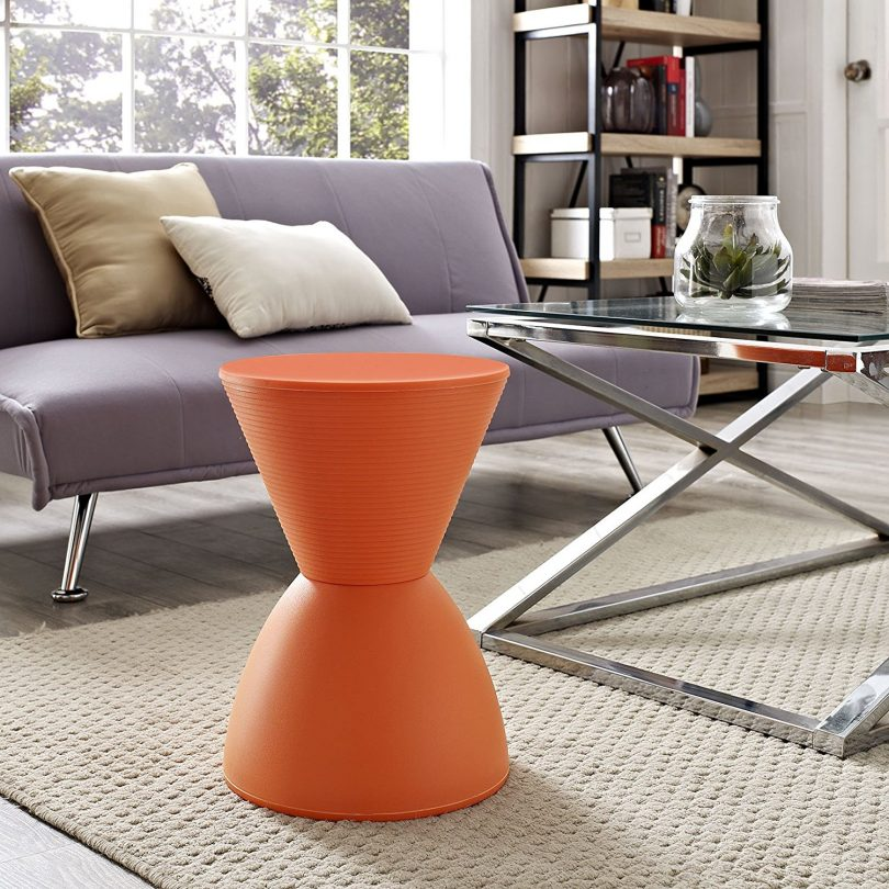Modway Haste Stool in Orange
