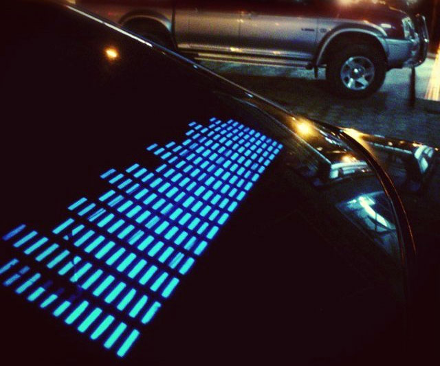 Sound Activated LED Car Sticker