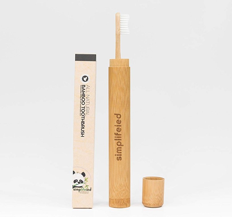 SimpLIFEied Bamboo Toothbrush With Case