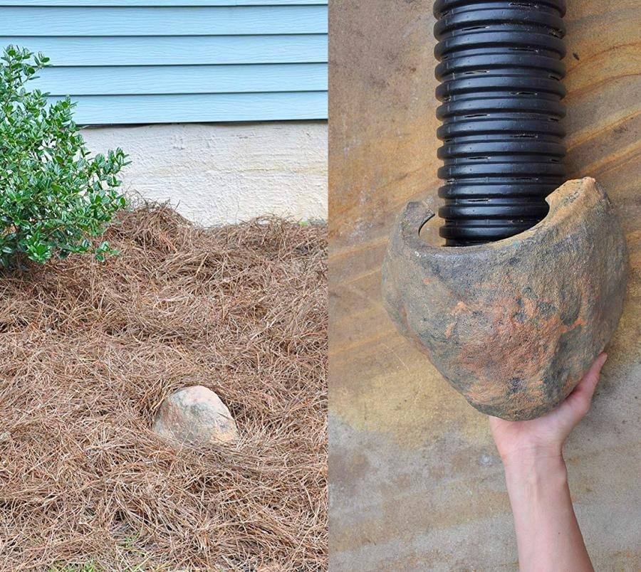 Fake Rock Corrugated Pipe Cover