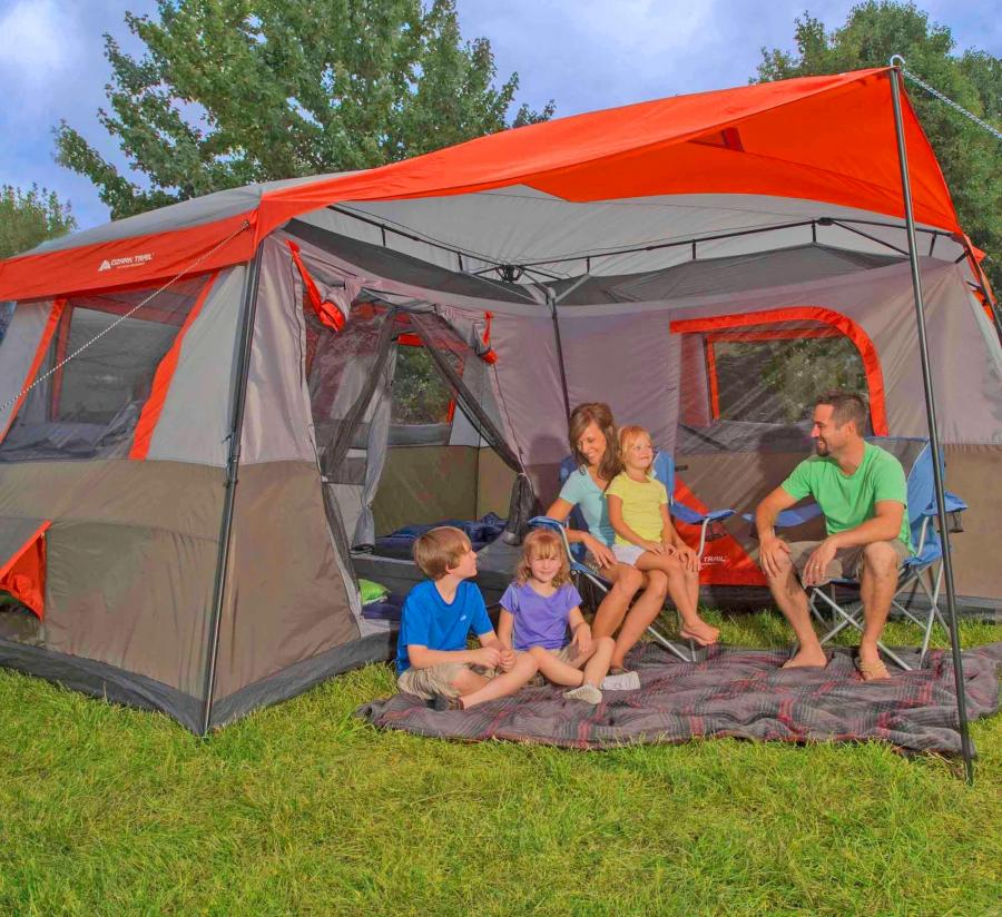 Ozark Trail 3-Room Camping Tent – Fits 12 People