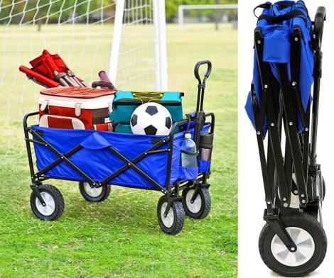 This Collapsible Wagon Folds Up To Just 8 Inches Thick