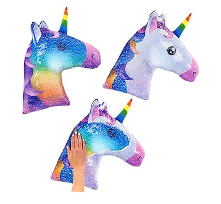 Sequin Unicorn Pillow – Reversible Color Changing Unicorn Pillow