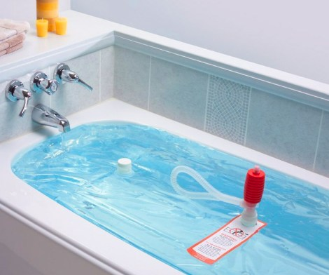 WaterBob Store Emergency Drinking Water In Bathtub